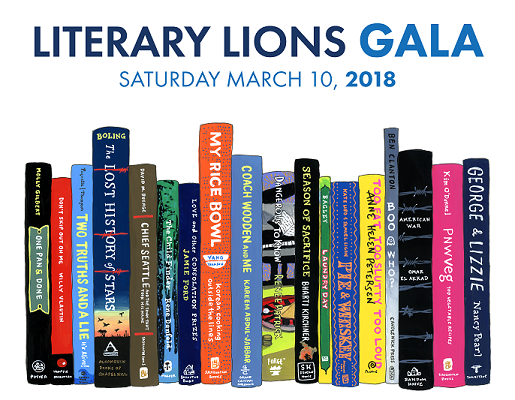 SOLD OUT-March 10, 2018 – 2018 Literary Lions Gala – Keynote Author & Book Signing 'Coach Wooden and Me' (Bellevue, WA)