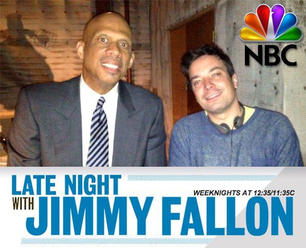 Kareem and Jimmy Fallon