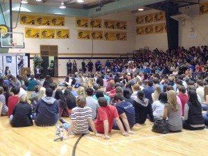 Kareem Inspires 1200 Students