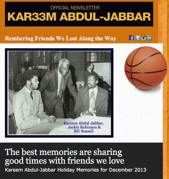 KAR33M ABDUL-JABBAR OFFICIAL NEWSLETTER