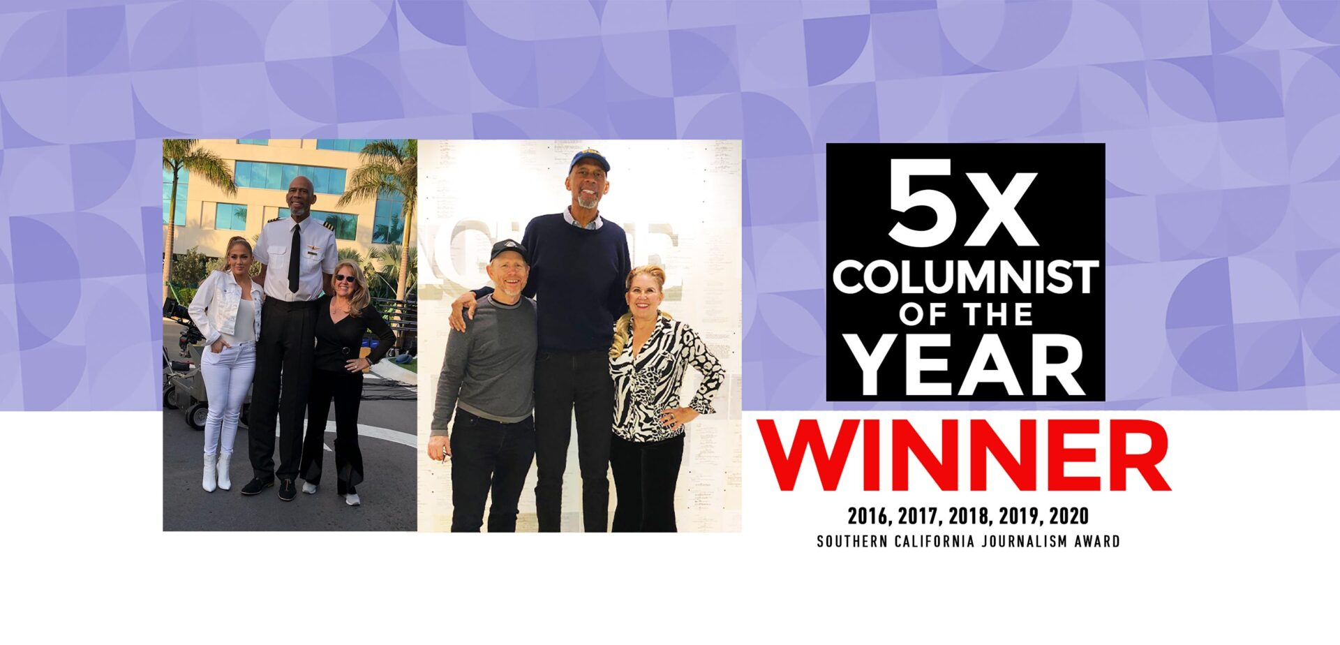 5x Columnist of the Year - Southern California Journalism Award