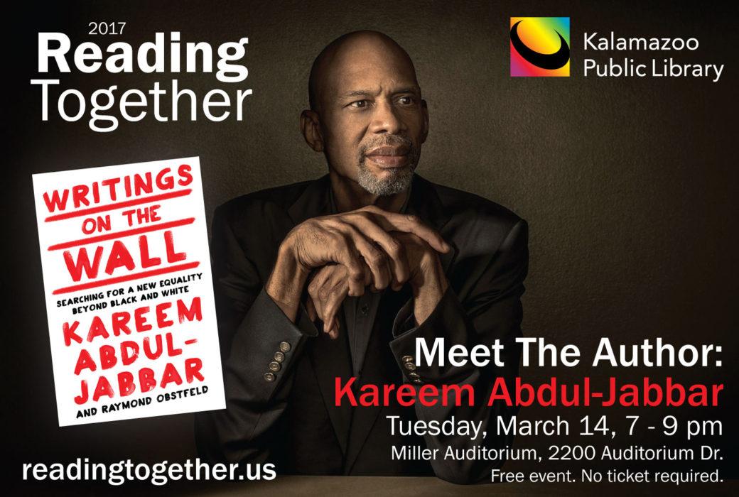 March 14, 2017 - Meet Kareem at the Kalamazoo Public Library