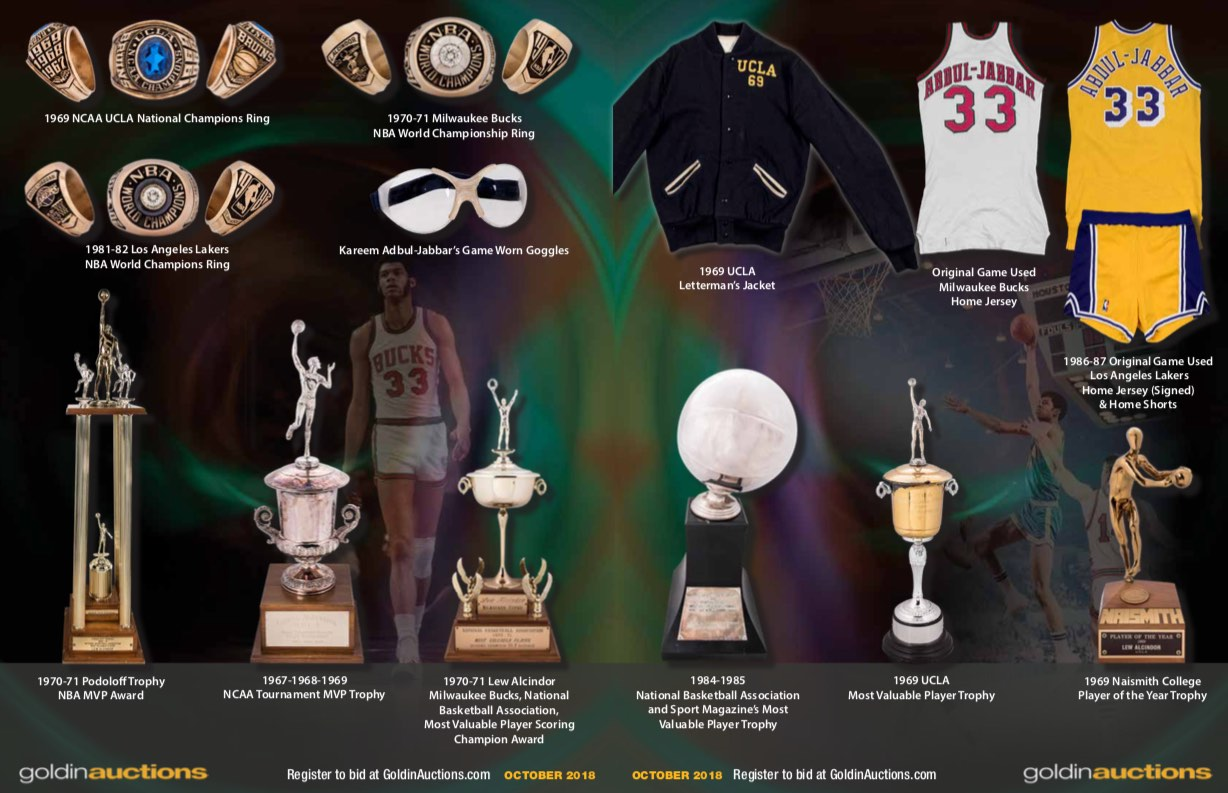 Kareem Abdul-Jabbar to Auction Memorabilia for Charity